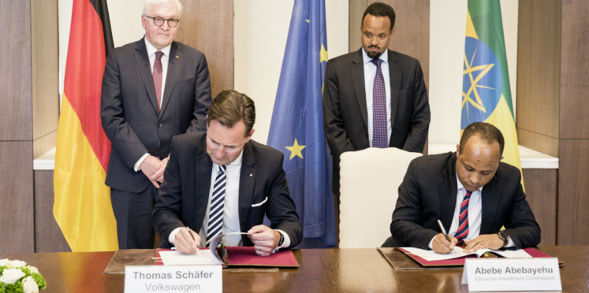 Volkswagen signs agreement for plants and mobility concepts in Ethiopia