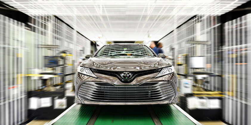 Toyota produces nearly 2 million vehicles in North America in 2018