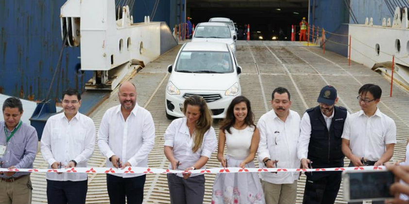 Mitsubishi imports vehicles through the Port of Mazatlán in Mexico
