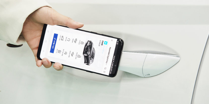 Hyundai unveils smartphone-based digital key solution