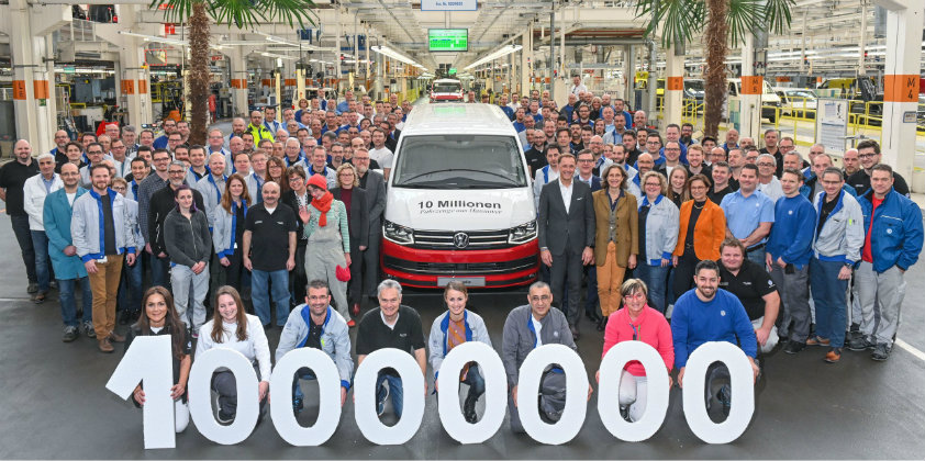 Volkswagen Commercial Vehicles rolls the ten millionth vehicle off the production lines in Hannover