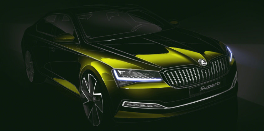 Škoda reveals design sketches of the updated Superb