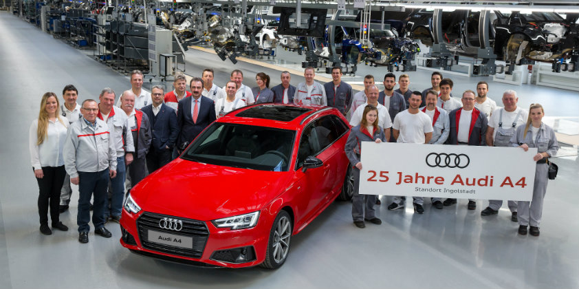 Audi A4 completes 25 years in production
