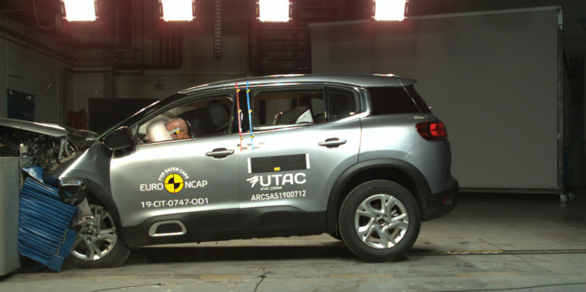 Citroën C5 Aircross and Range Rover Evoque rate by the Euro NCAP
