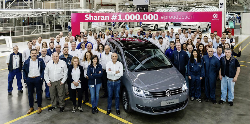 Volkswagen Autoeuropa produces the millionth Sharan family van