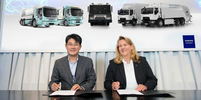 Volvo Group and Samsung SDI enter strategic alliance for electromobility