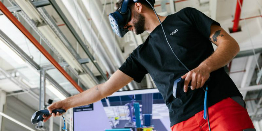 Audi carries out virtual testing of the assembly process of e-tron GT