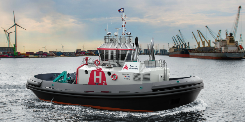 Hydrogen-powered tug is world first for Port of Antwerp