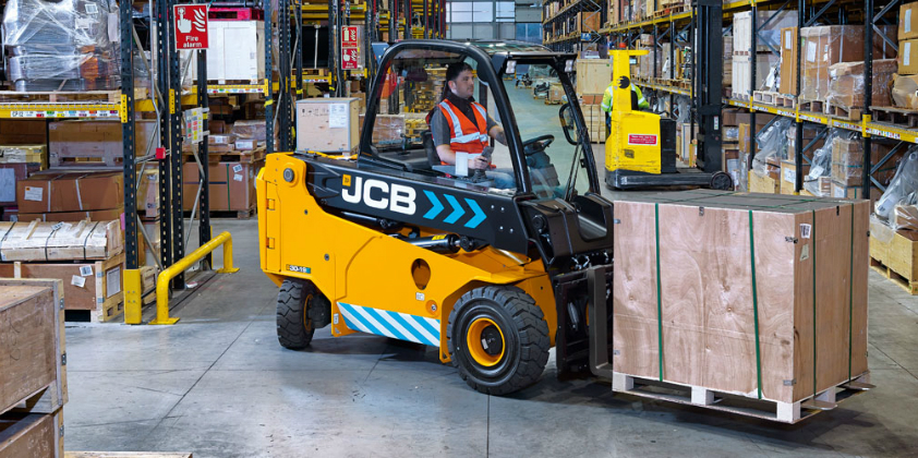 Electric power brings JCB Teletruk benefits inside the warehouse